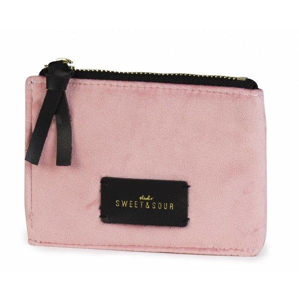 Coin pouch / super soft velvet / pink