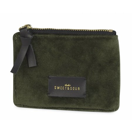 Studio Sweet & Sour  Coin pouch / super soft velvet / green