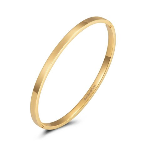 Fashionthings Basic bangle goud 4mm