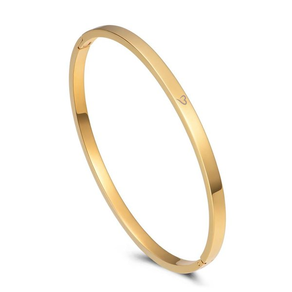 Bangle happy thoughts goud 4mm