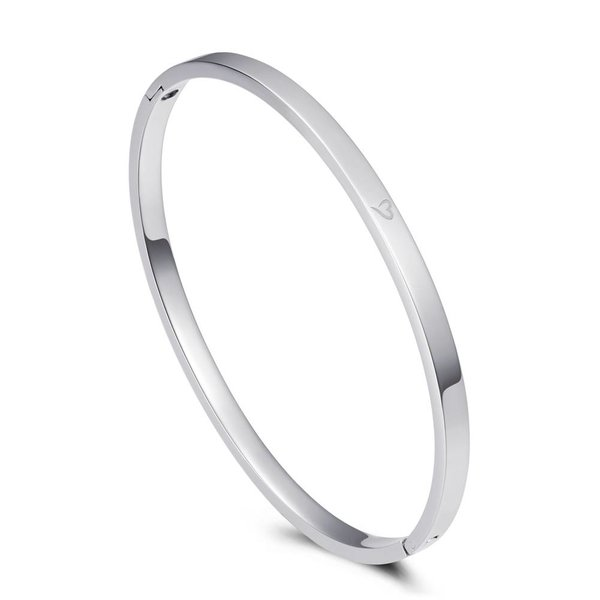 Bangle basic zilver 4mm