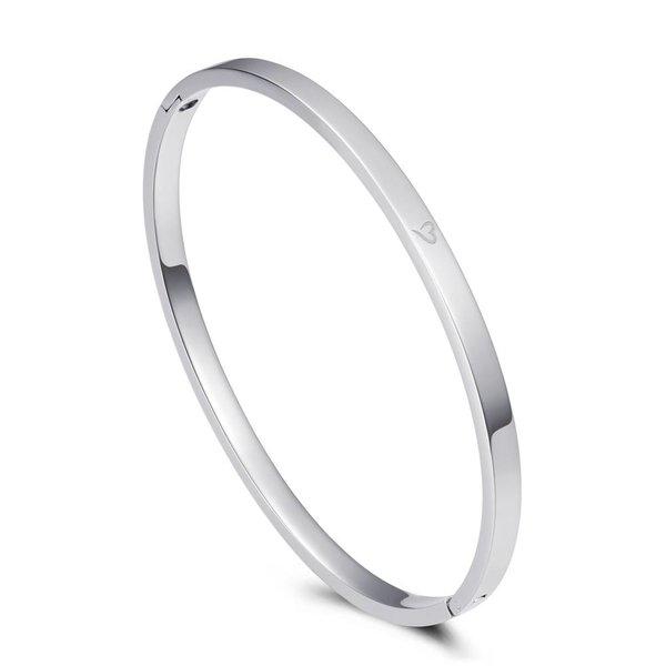 Bangle love zilver 4mm