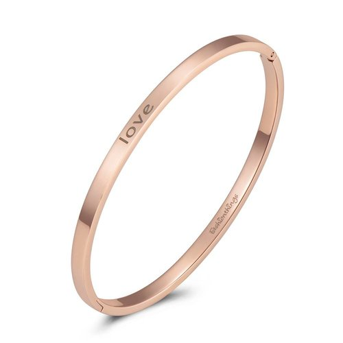 Fashionthings Bangle love roségoud 4mm