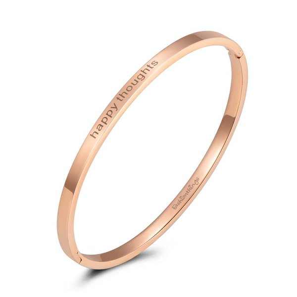 Bangle happy thoughts roségoud 4mm