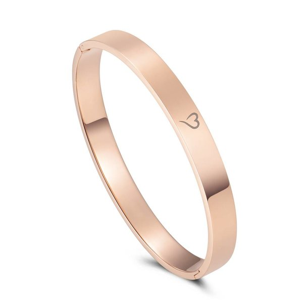 Bangle basic roségoud 8mm