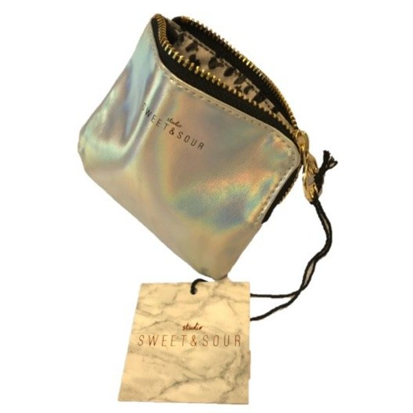 Keychain pouch / gold grain / PU
