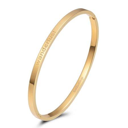 Fashionthings Bangle wanderlust goud 4mm