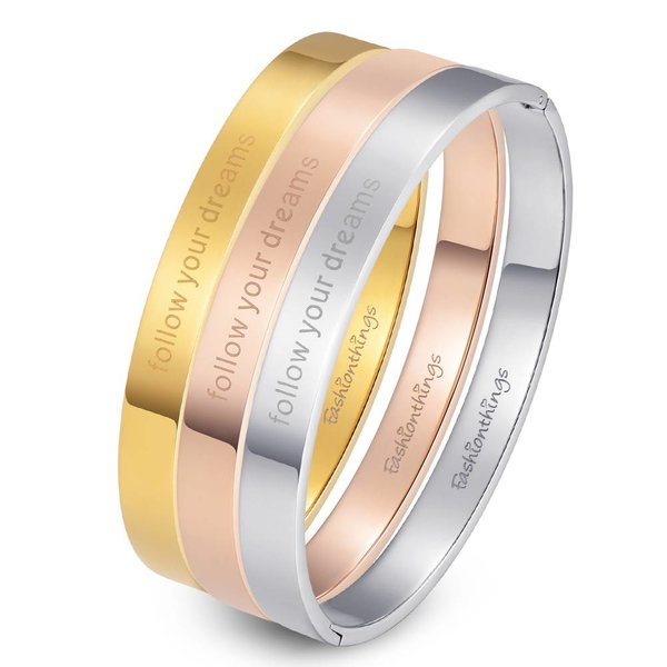 Bangle follow your dreams zilver 8mm