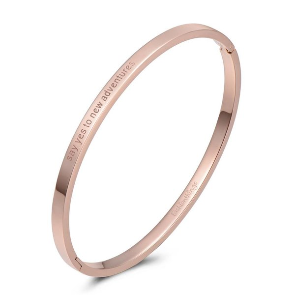 Bangle say yes to new adventures roségoud 4mm