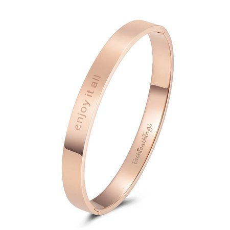 Fashionthings Bangle enjoy it all roségoud 8mm