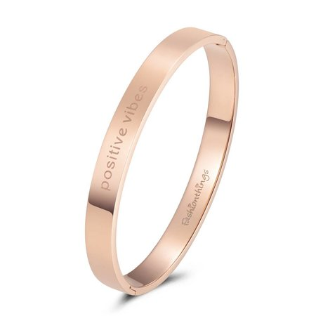 Fashionthings Bangle positive vibes roségoud 8mm