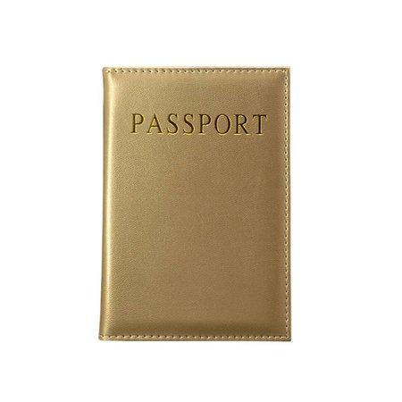 Shiny goud paspoorthoesje