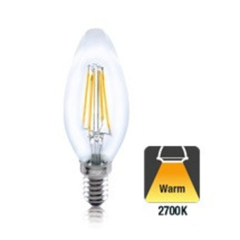 E14 4w Filament Peer lamp 2700K - Ledlampaanbiedingen.nl