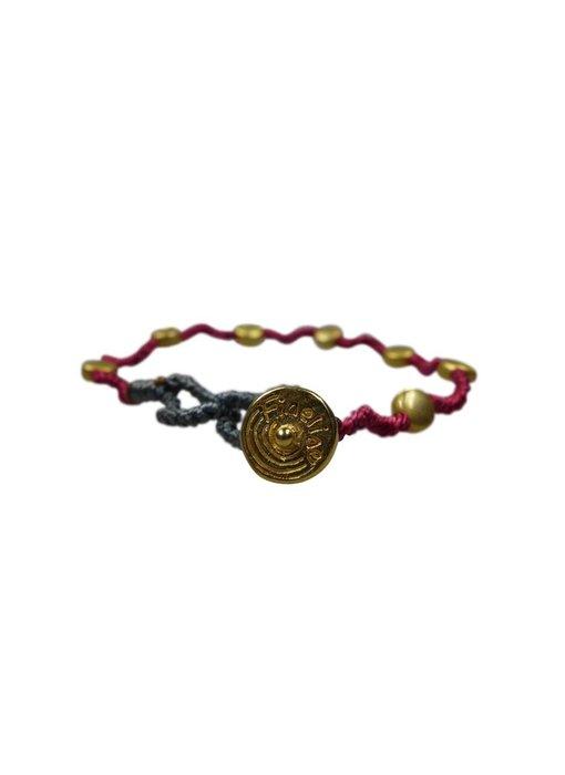 Armband Kura, vergoldet