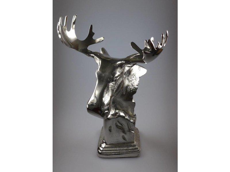 Light & Living Elchkopf aus Nickel, Höhe 38 cm