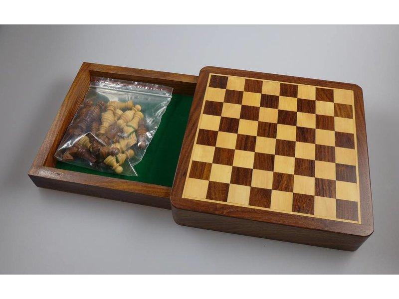 Barracuda Welt Importe Schachspiel, Shisham Holz, 18 cm