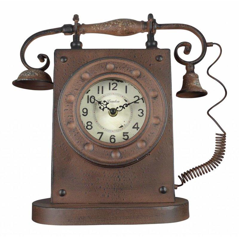 Standuhr im Telefon-Design