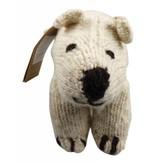 Kenana Stofftiere Polarbär - Eisbär Stofftier aus Wolle 18x20 cm - Kenana Stofftiere