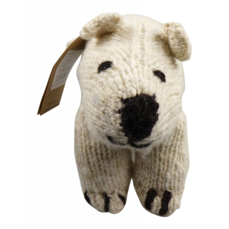 Polarbär Stofftier aus Wolle