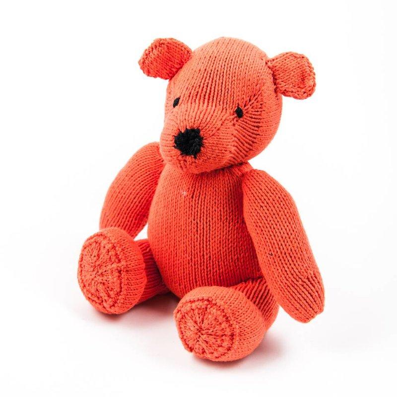 Teddybär orange, Biobaumwolle