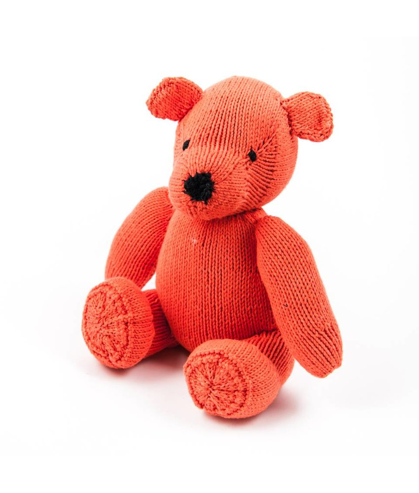 Teddybär orange, Biobaumwolle