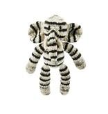 Kenana Stofftiere Gestreifter Elefant Stofftier, Bio Baumwolle 30 cm - Kinder Kenana Stofftiere - Handmade
