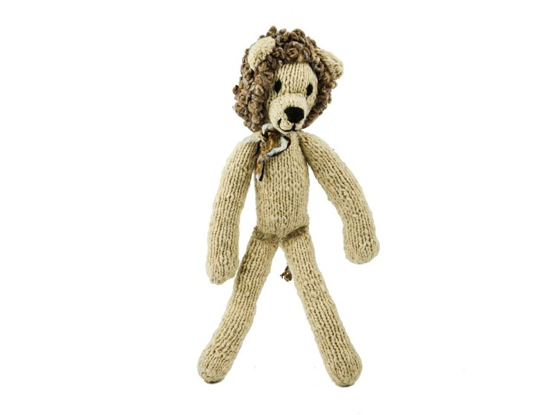 Kenana Stofftiere Creme Woll-Löwe 35 cm - Kenana Stofftiere,Püschtiere aus Handarbeit für Kinder und Erwachsene