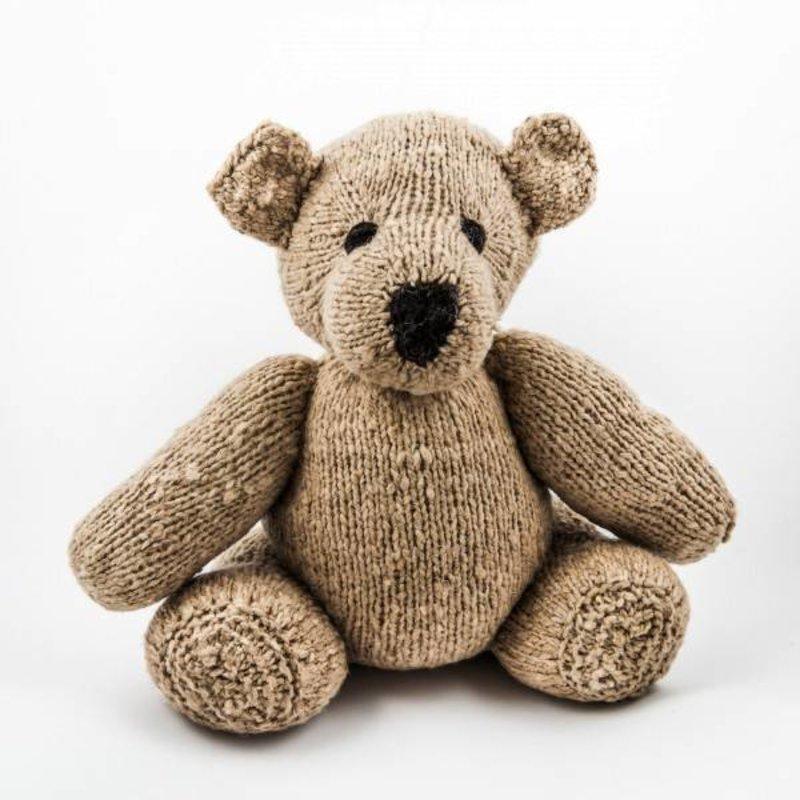 Beiger Woll-Teddybär Stofftier