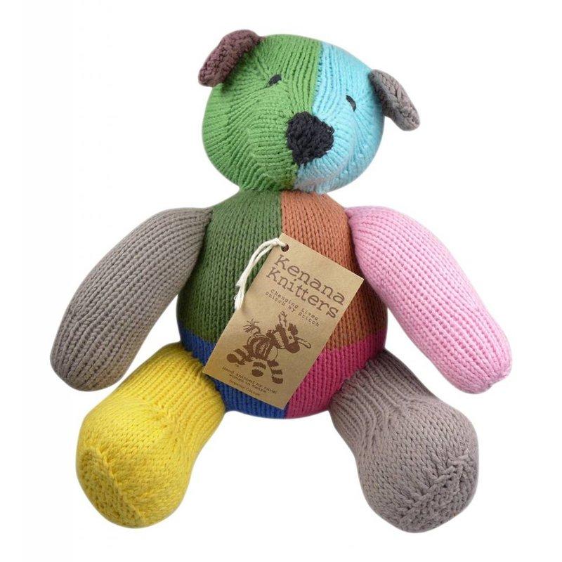 Teddybär bunt, Biobaumwolle