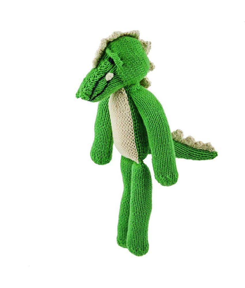 Grünes Krokodil Stofftier