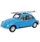 Modellauto VW Beetle + Surfbrett