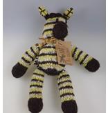 Kenana Stofftiere Gestreiftes Woll-Zebra - Kenana Stofftiere - Handmade - circa 35 cm aus Wolle
