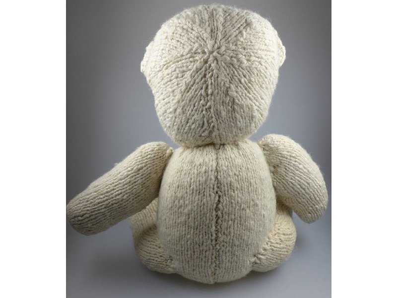 Kenana Stofftiere Teddy Bär in der Farbe Creme, ca. 42 cm aus Wolle - Kenana Stofftiere - Handmade, Handarbeit