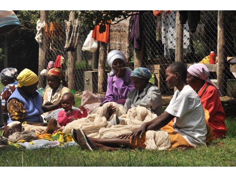 Kenana Stofftiere Baumwoll-Nashorn 30cm - Handmade - Stofftier