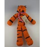 Kenana Stofftiere Baumwoll-Tiger Orange & Schwarz 30cm - Handmade - Stofftier