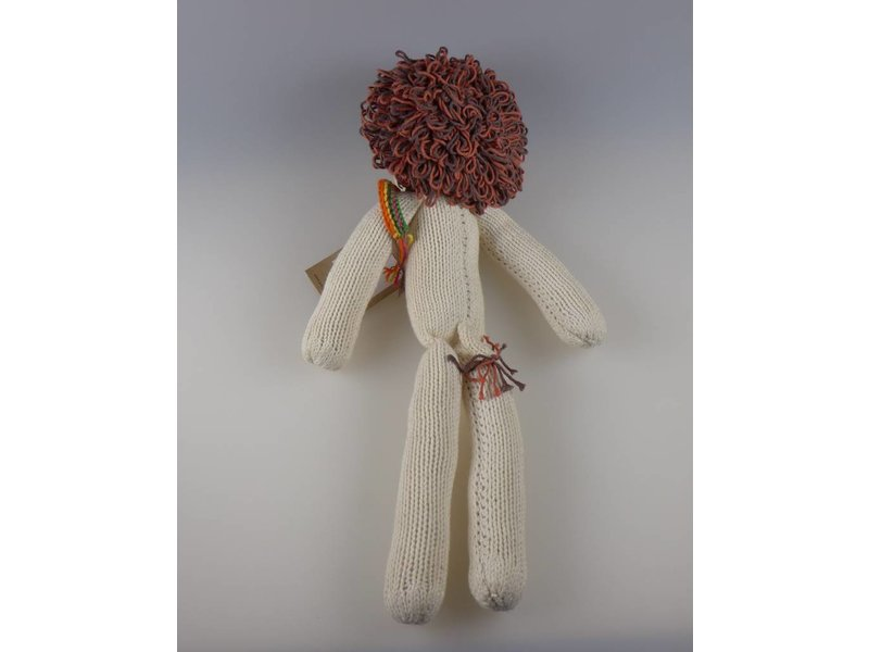 Kenana Stofftiere Baumwoll-Löwe Creme 30cm - Handmade - Stofftier