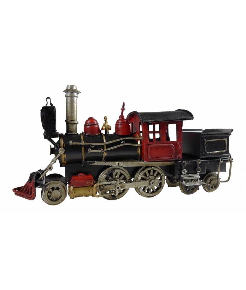 Blech-Dampflokomotive, schwarz/rot