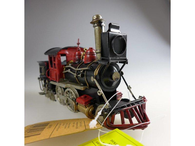 Reinhart Faelens Kunstgewerbe Blech-Dampflokomotive, schwarz/rot, 20,5 x 6,5 x 10 cm