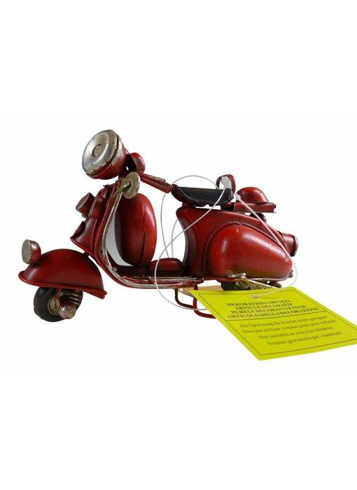 Blech-Mini Motorroller in rot