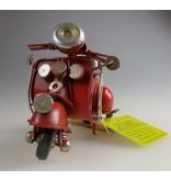Reinhart Faelens Kunstgewerbe Blech-Mini Motorroller in rot, 11,5 x 5,5 x 7,5 cm