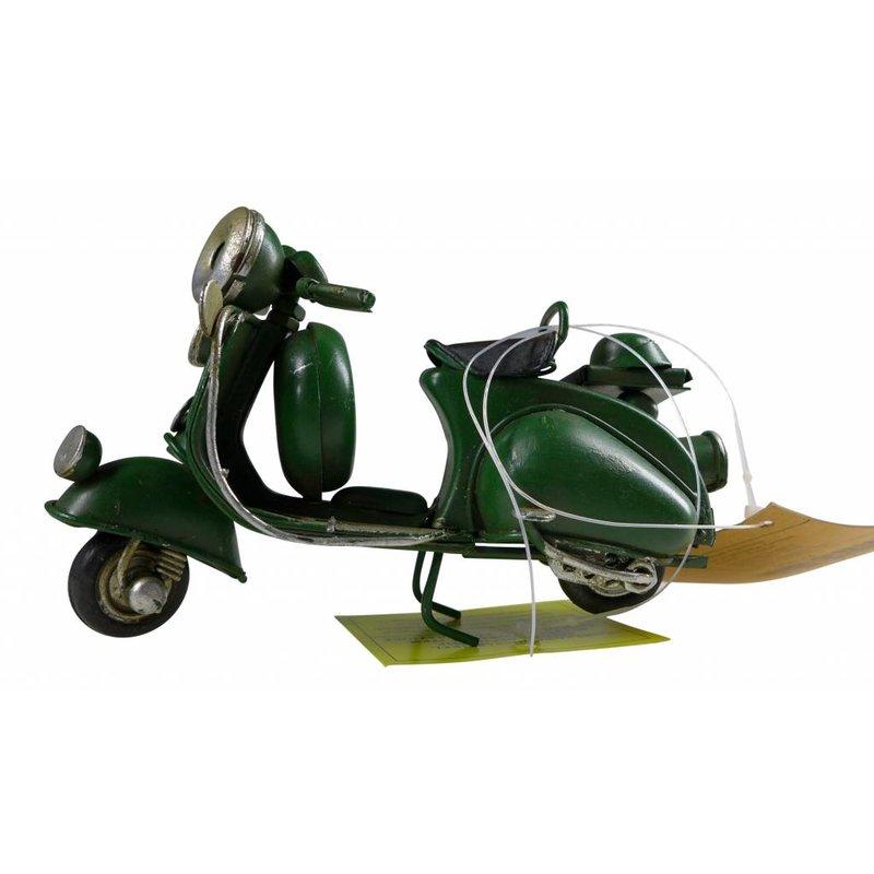 Blech-Mini Motorroller in grün