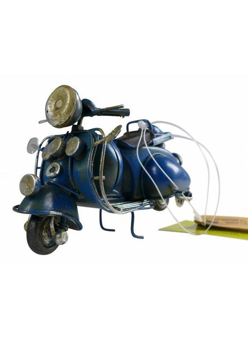 Blech-Mini Motorroller in blau