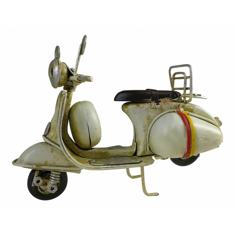 Blech-Mini Motorroller in weiß