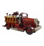 Reinhart Faelens Kunstgewerbe Blech-Feuerwehrauto, 17 x 8 x 8 cm