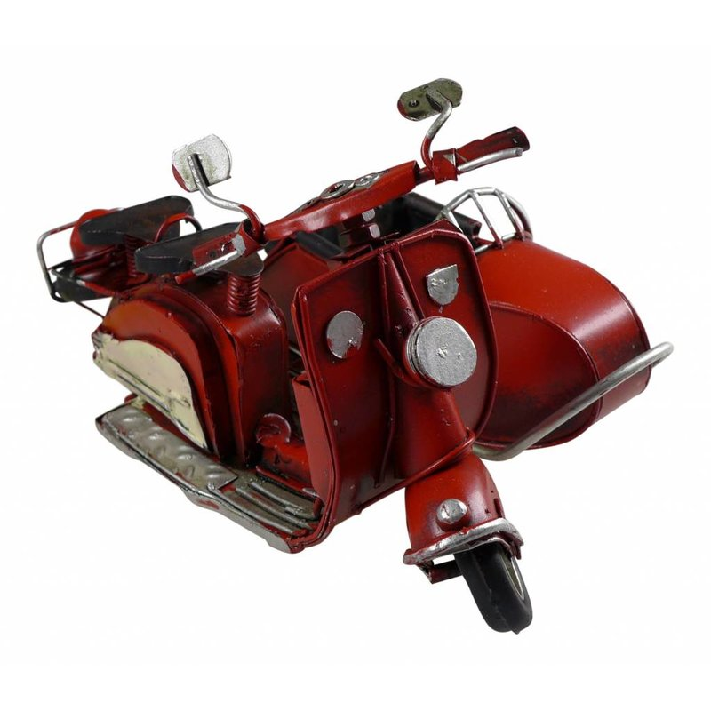 Blech-Motorroller mit Beiwagen