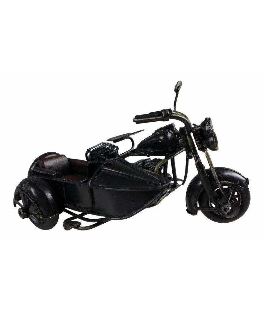 Motorroller mit Beiwagen schwarz