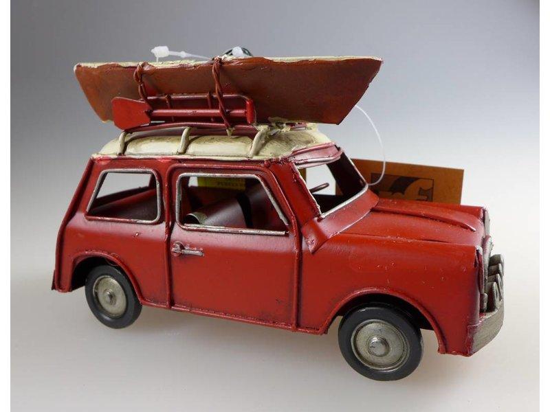 Reinhart Faelens Kunstgewerbe Blech-Mini, rot/weiß, 16 x 7 x 9,5 cm