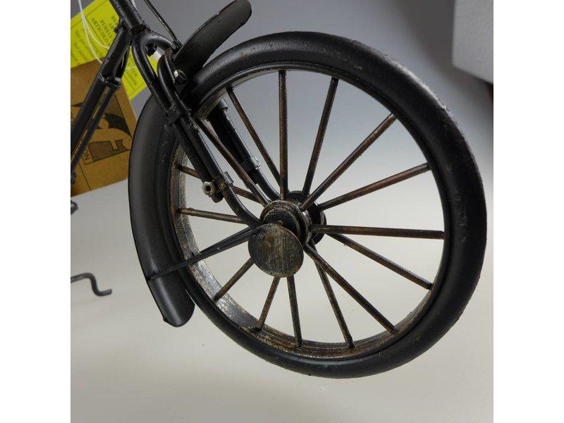 Reinhart Faelens Kunstgewerbe Blech-Fahrrad mit Hilfsmotor, schwarz, 31 x 7 x 18 cm