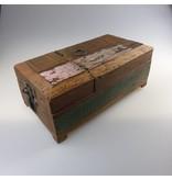JONES-ANTIQUES Rasier- oder Schmuckkästchen, Handarbeit aus recyceltem Holz, jedes Stück ein Unikat