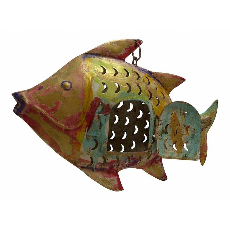 Fischwindlicht gold/bunt